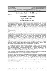 Review of Crown Office Proceedings by Richard ... - Francis Bennion