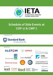 Thursday, 1 December 2011 - International Emissions Trading ...