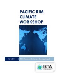 pacific rim climate workshop - International Emissions Trading ...