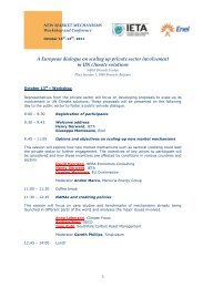 A European dialogue on scaling up private sector ... - IETA