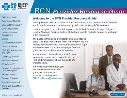 Bcn Provider Resource Guide E Referral Blue Cross Blue Shield