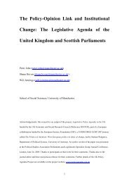 The Policy-Opinion Link and Institutional Change - UK Policy ...