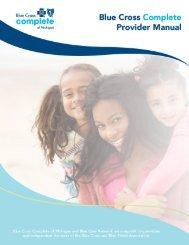 Blue Cross Complete Provider Manual - e-Referral