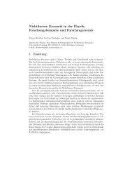 Nichtlineare Dynamik in der Physik: Forschungsbeispiele und ...