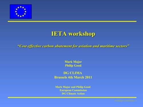 presentation - International Emissions Trading Association