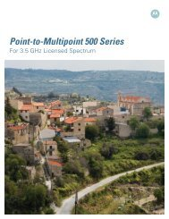 Point-to-Multipoint 500 Series for 3.5 GHz Licensed Spectrum
