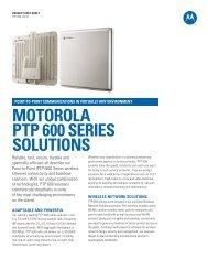 Product Spec Sheet - Motorola Solutions