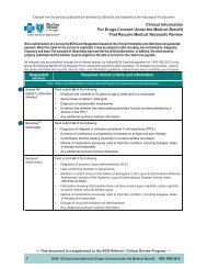 BCN - Clinical Information For Drugs Covered Under the ... - e-Referral