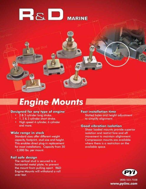R&D Engine Mount Catalog pdf - PYI Inc