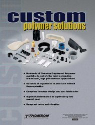 Custom Polymer Solutions - Danaher Specialty Products