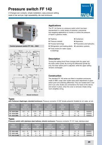 Pressure switch FF 142 - TIVAL Sensors GmbH