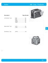 G Index Mill Duty Products - Danaher Specialty Products