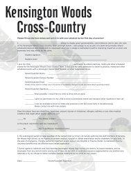 KWOODS CROSS-COUNTRY - Kensington Woods High School