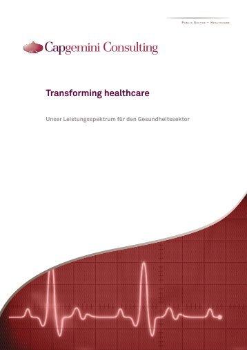 Transforming healthcare - Capgemini Deutschland