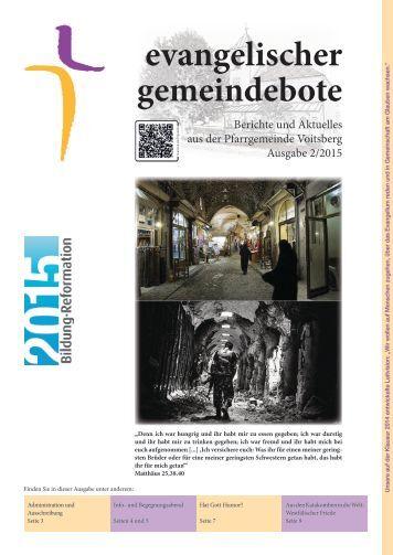 evangelischer gemeindebote 2/2015