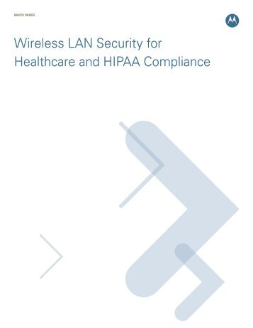Wireless LAN Security for Healthcare and HIPAA Compliance