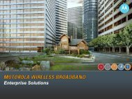Enterprise Solutions - Wireless Network Solutions