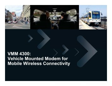 VMM 4300 Provides - Wireless Network Solutions
