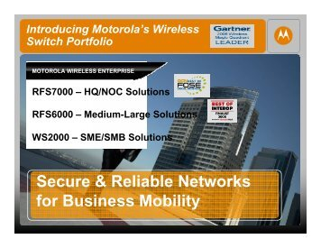 Workshop EMB : John Cunningham - Motorola Wireless Network ...