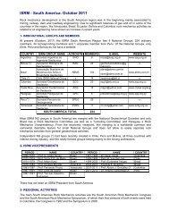 VP South America Activity Report 2011 (pdf file) - ISRM