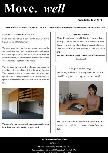 June 2010 - Move Physiotherapy