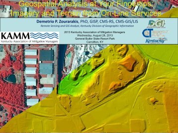 Geospatial Analysis Imagery - Ky Association of Mitigation Managers