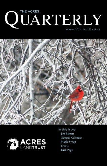 Winter 2012 - ACRES Land Trust