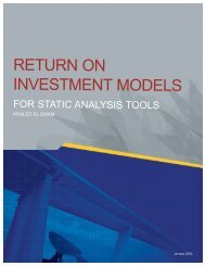 Return on Investment Models for Static Analysis Tools - David F. Rico