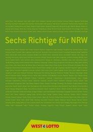 Gut für NRW - Westdeutsche Lotterie GmbH & Co. OHG