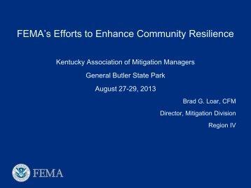 FEMA's Efforts to Enhance Community Resilience - Ky Association ...
