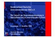 Bundesverband Deutscher Unternehmensberater BDU e.V. Die ...
