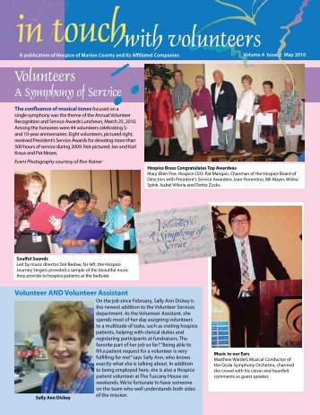 with volunteers - Hospice of Marion County