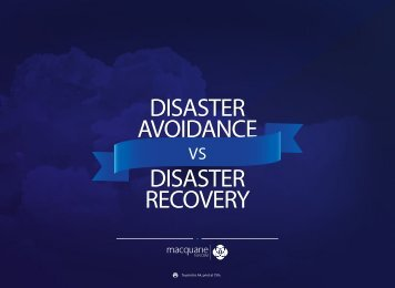 DISASTER AVOIDANCE DISASTER RECOVERY