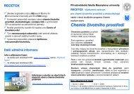 chemie životního - Centrum pro výzkum toxických látek v prostředí