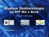 Studium Ekotoxikologie - Centrum pro výzkum toxických látek v ...