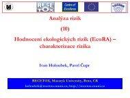 charakterizace rizika - Centrum pro výzkum toxických látek v prostředí