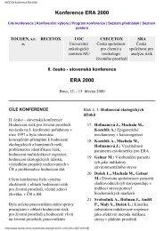 ERA 2000 - Centrum pro výzkum toxických látek v prostředí