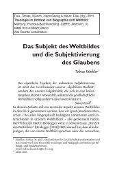 Das Subjekt des Weltbildes und die Subjektivierung des ... - GBFE