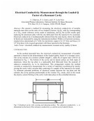 Electrical Conductivity Measurement through the Loaded Q Factor of ...