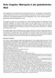 Ruhr Angeles: Metropole in der globalisierten Welt - Christoph Zöpel
