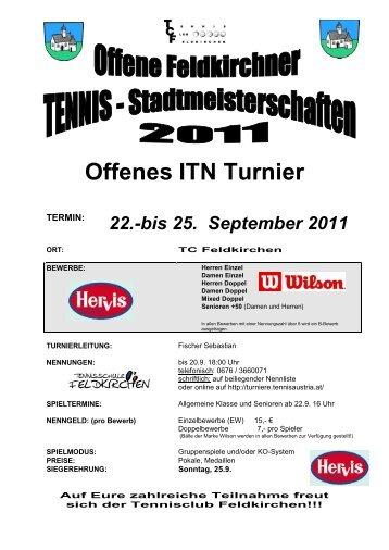 1. HALLENABO - ABSCHLUSSTURNIER - Tennisclub Feldkirchen