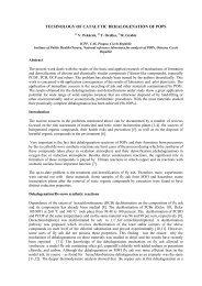 PONDĚLÍ, 8 - Centrum pro výzkum toxických látek v prostředí