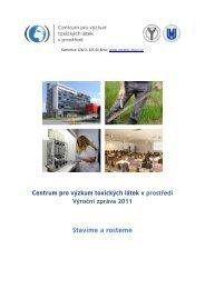 Výroční zpráva 2011 - Centrum pro výzkum toxických látek v prostředí