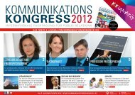 profession pressesprecher 2012 - Kommunikationskongress
