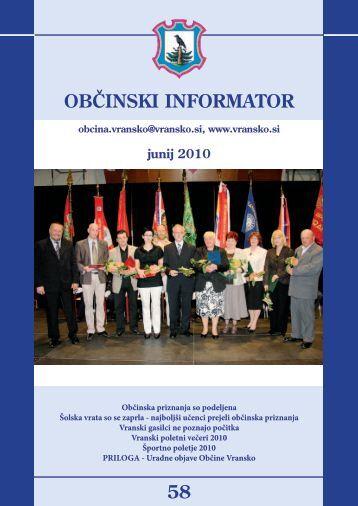 Obcinski informator st. 58 - Občina Vransko