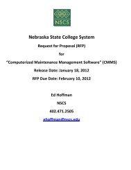 Appendix A CMMS RFP Requirements - Nebraska State College ...