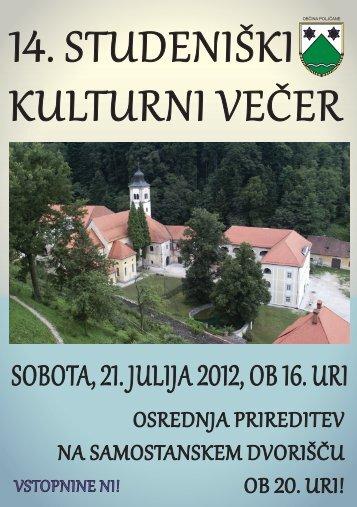 14. STUDENIškI kULTURNI VEčER - Občina Poljčane