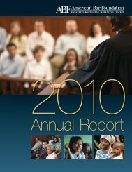 Annual Report - American Bar Foundation