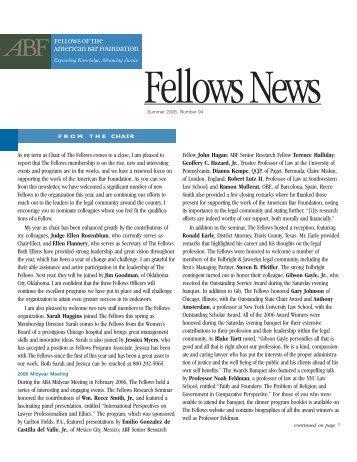 Summer 2006 - Issue 94 - American Bar Foundation