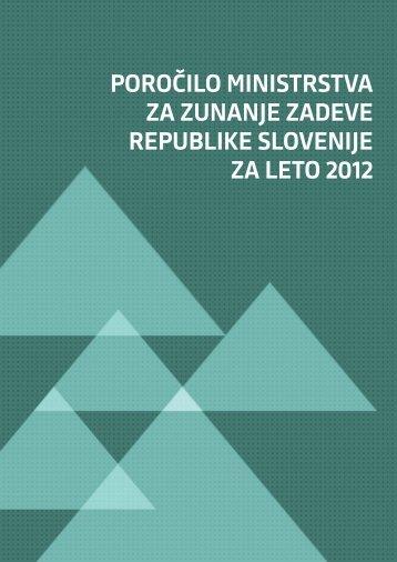 Poročilo za leto 2012. - Ministrstvo za zunanje zadeve
